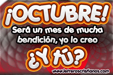 imagenes bienvenido octubre para facebook mes de octubre 171 letreros cristianos com imagenes