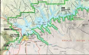 map of lake powell arizona lake powell houseboating report and review 1997