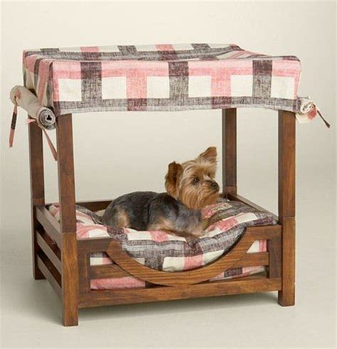 dog canopy bed juicy couture dog canopy wooden bed woof pinterest