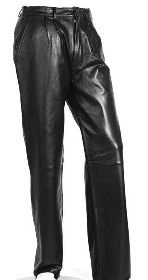 men's black leather pants lambskin dress pants sizes 28 30