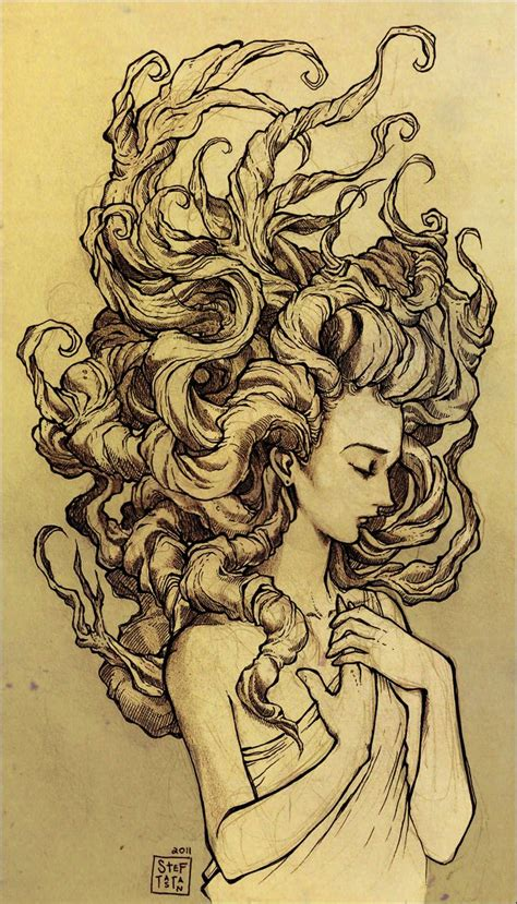 art drawings fantasy medusa art artists artistic ink