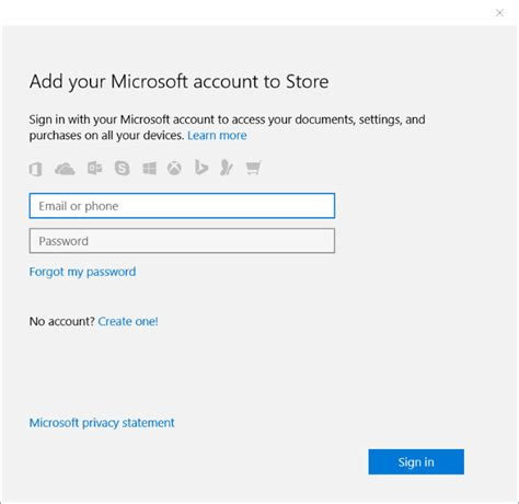 email microsoft account use different email account to sign in to windows 10 store