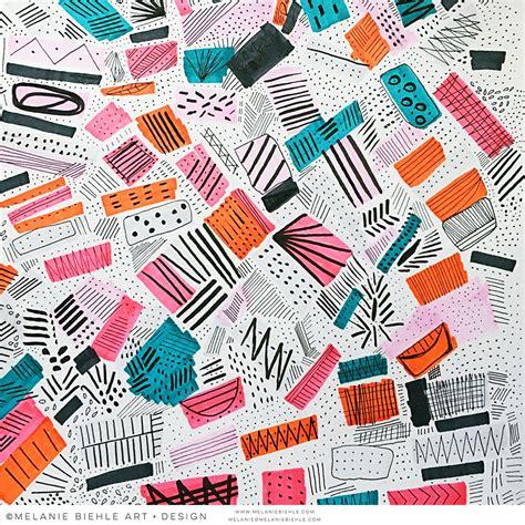 pattern design linkedin seattle artist melanie biehle abstract paintings