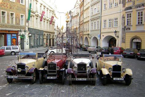 prague car old timer vintage car tour of prague