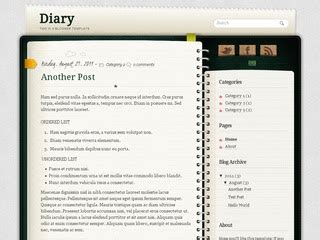 notebook templates for blogger diary notebook blogger template zoomtemplate