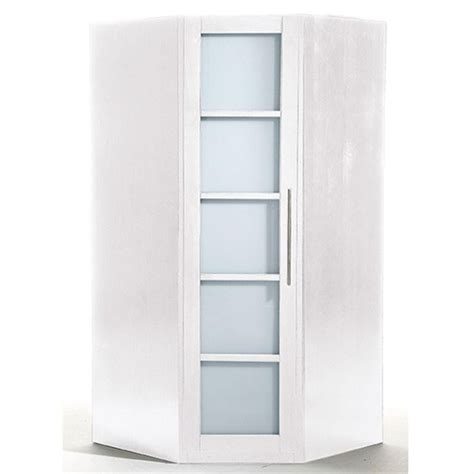 Armoire D Angle Ikea 3564 by Armoire D Angle Ontario Lasur 233 Blanc Achat Vente