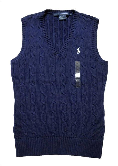 womens knit vest new with tags polo ralph womens cable knit sweater