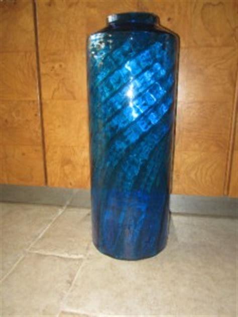 Blue Glass Floor Vase Blenko Large Blue Turquoise Blown Glass Floor Vase
