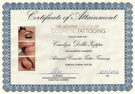 tattoo infection control certificate proskin clinic about