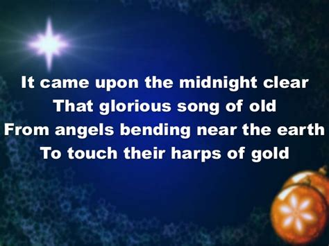 It Came With Upon Midnight Clear By Suzanne Brockman it came upon a midnight clear