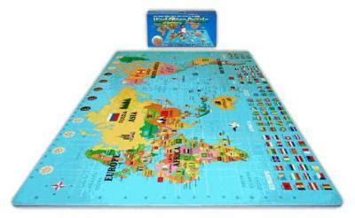 World Map Foam Puzzle Mat by Alessco 6 X 6 X 4 World Map Foam Puzzle Floor Set