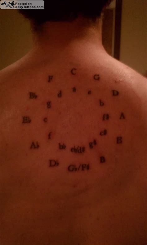 circle of fifths tattoo circle of fifths geeky tattoos