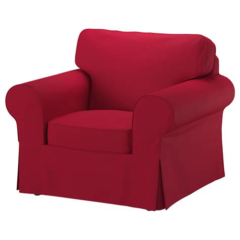 furniture sofa armchair ektorp armchair nordvalla red ikea