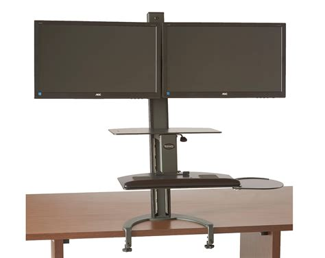 monitor stand cl on glass desk dual lcd monitor stand desk cl 28 images dual monitor