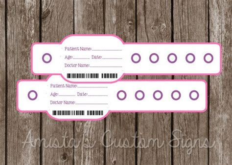 hospital band template printable doctor or hospital pretend wristbands for doc