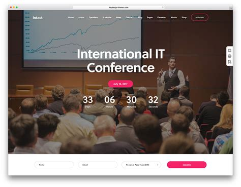 conference themes exles 30 awesome wordpress themes for conference and event 2018