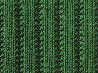 2x1 Scarf raised stockinette ribs ii knitting pattern stitch knit