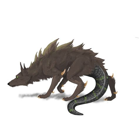 wolf demon with wings