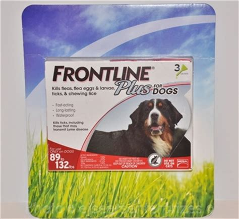 frontline plus for dogs 89 132 lbs frontline plus for large dogs 89 132 lbs pet supplies