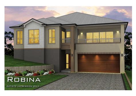 robina split level sideways sloping design home design