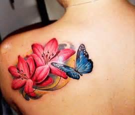 tatuaggio fiori colorato tatuaggi farfalle 200 foto e idee a cui ispirarsi
