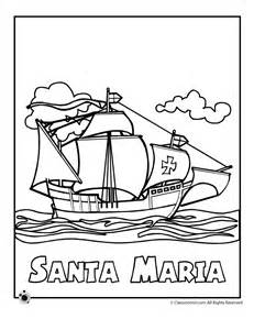 christopher columbus coloring pages columbus day coloring pages santa coloring page