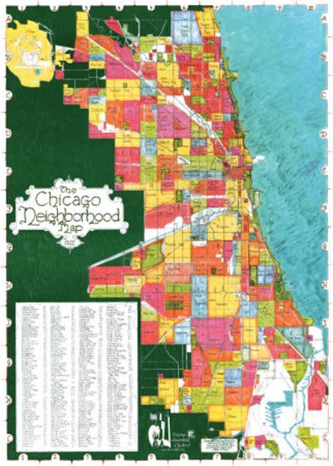 chicago neighborhood map poster chicago neighborhood map poster poster and print