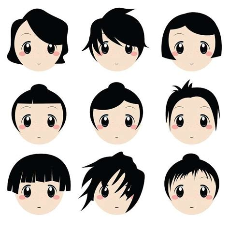 hairstyles cartoon short hair cartoon girl clipart best