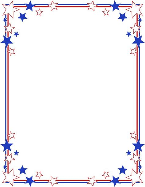 printable star picture frame stripes page border stars stripes border clipart 4th