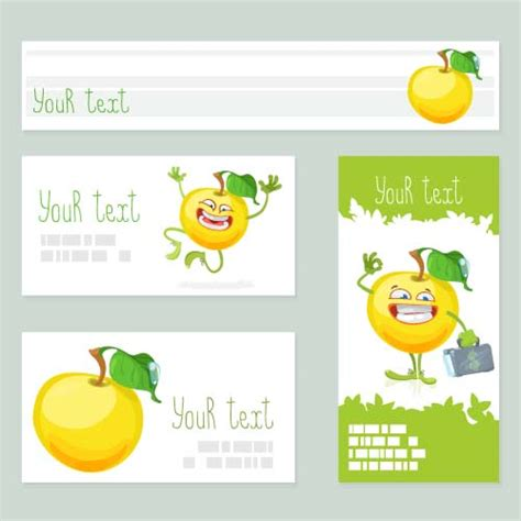 Free Apple Gift Card - funny apple cards vector 01 vector card free download