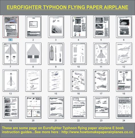How To Make A Great Flying Paper Airplane - eurofighter typhoon flying paper airplane by