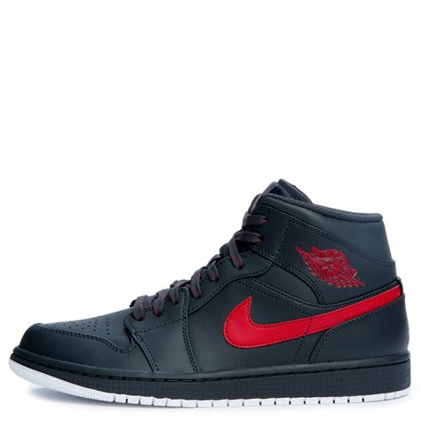 men jordan 1 c men s air jordan 1 mid anthracite gym red white