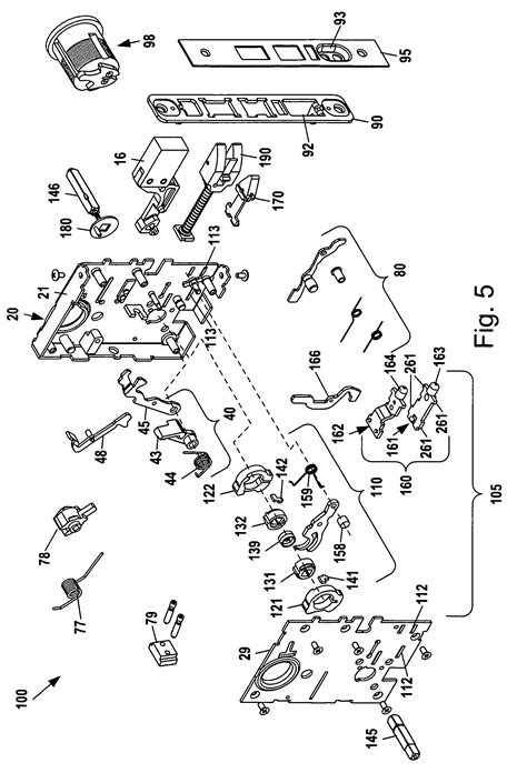 baldwin mortise lock diagram patent us8292336 mortise lock assembly patents