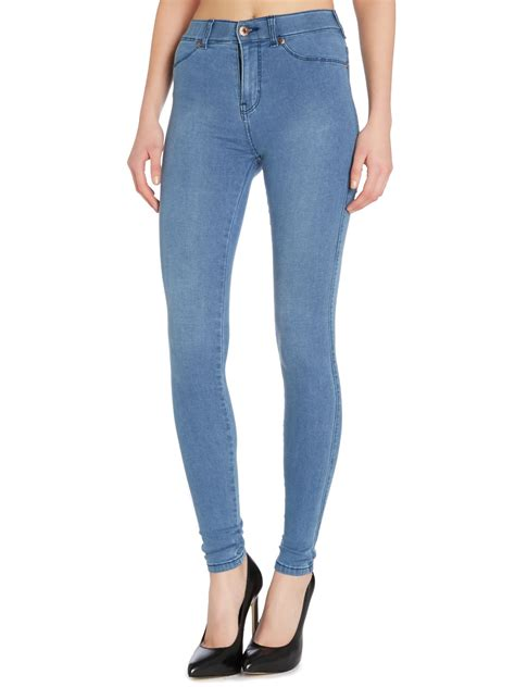 light blue high waisted dr denim high waisted light blue jean in blue lyst