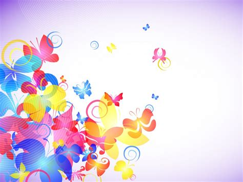 abstract colorful butterflies powerpoint ppt backgrounds