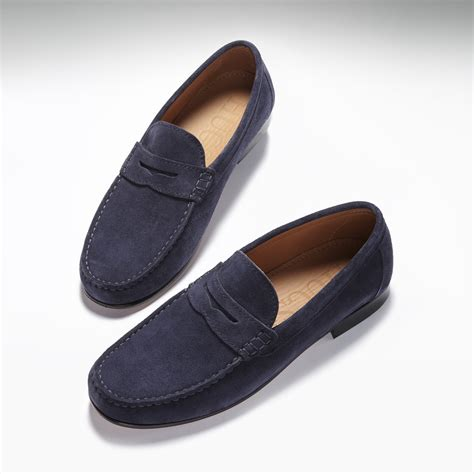 bottom loafers just to compliment the mink s loafers navy blue suede hugs co