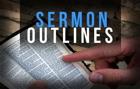 Sermon Outline Bread Of by A Surprising Stress Free Way To Write Sermon Outlines