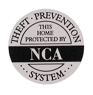 home security sticker all electronics corp