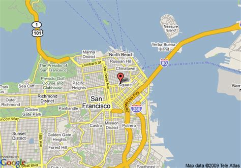 hotels in san francisco map map of hotel san francisco