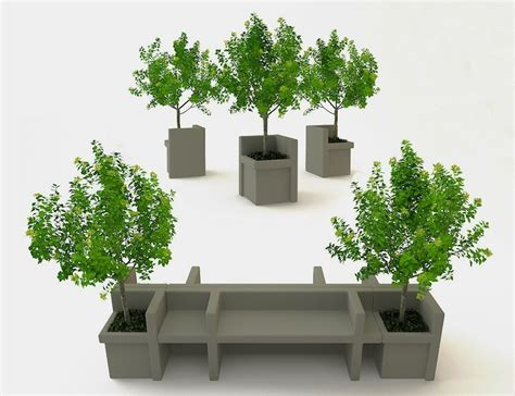 tree with bench infinite benches by nazar sigaher modular concrete outdoor furniture homeli