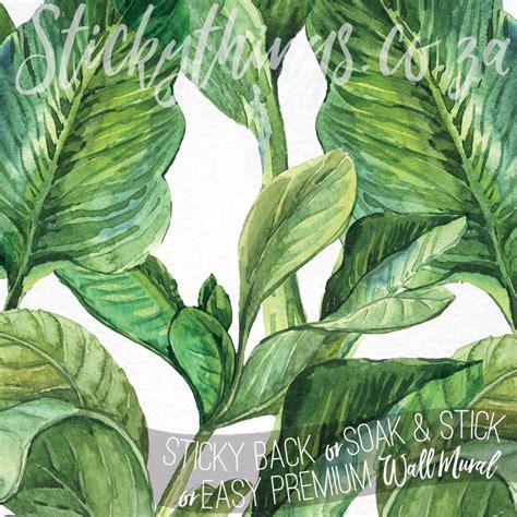 tailor  banana leaf wall mural tropical leaves