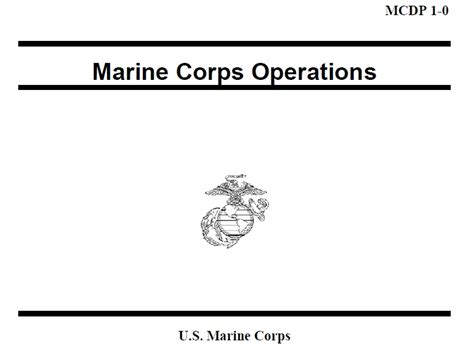 Mcdp 1 Warfighting Book Report by Marine Corps Publications Usmc Officer