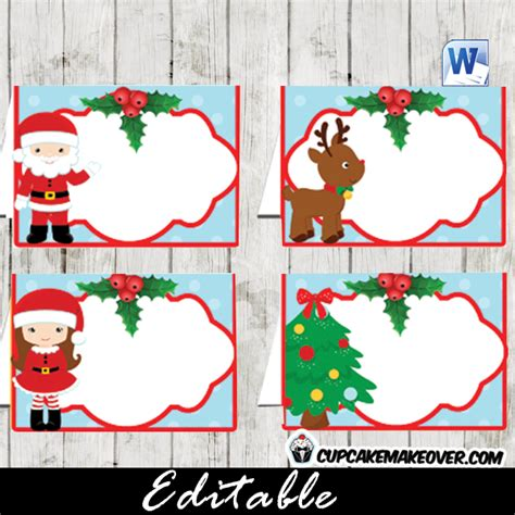christmas editable notes favor bag labels instant