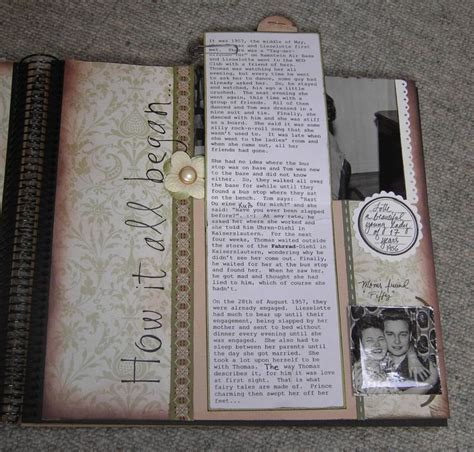 50th Wedding Anniversary pg 3 journaling   Scrapbook.com