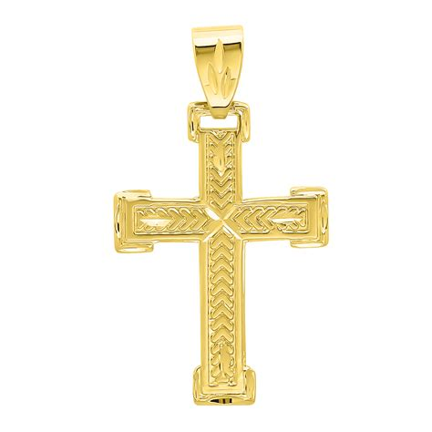 solid 14k gold filled cross crucifix pendant real heavy