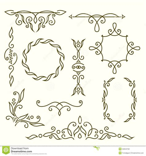 wedding logo border monogram design elements graceful template line