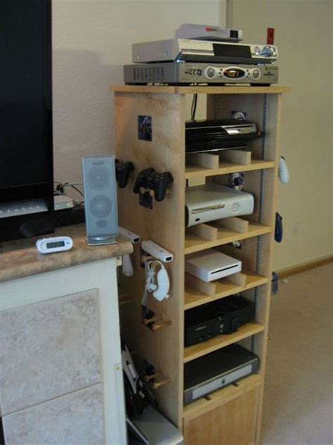 video game storage ideas i love this home built av gamer stand i d want a gamer