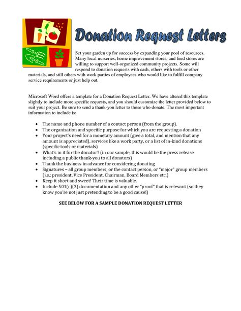 Kindergarten Donation Letter Sle Church Donation Letter Sle Donation Request Letter Work Stuff Letter
