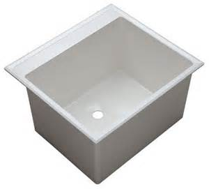 Plastic Kitchen Sinks Proflo Pflt2522d White 24 1 2 Quot Plastic Drop In Laundry Sink With Two Contemporary Bathroom Sinks