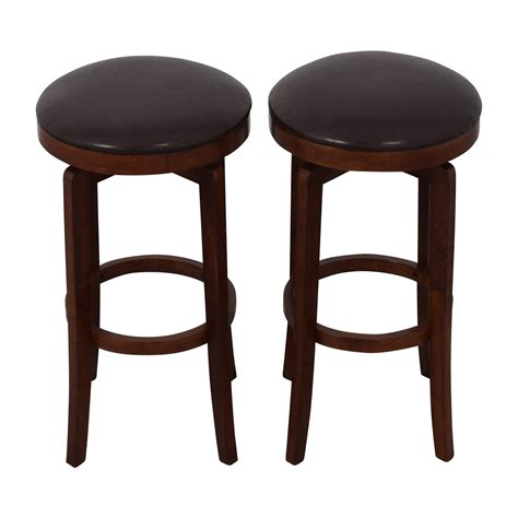 Used Bar Stool by 90 Jc Jc Malone Backless Leather Swivel